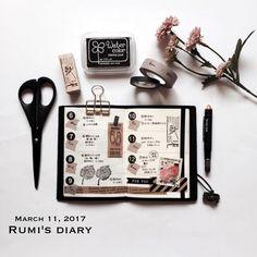 """306 Likes, 12 Comments - Rumi (Rumi's diary) (@rumisdiary) on Instagram: """"2017/03/11 my TN passport → week 6 / February 06-12 このトラベラーズノートのパスポートサイズが好きすぎて#rumispassport…"""""""
