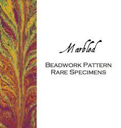 Marbled Peyote Stitch Beadwork Pattern  Cuff by RareSpecimens Seed Bead Patterns, Beaded Bracelet Patterns, Peyote Patterns, Beading Patterns, Beaded Bracelets, Seed Bead Jewelry, Seed Beads, Beaded Jewelry, Jewellery
