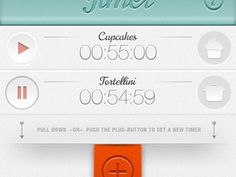 Designspiration — Dribbble - Timer by shurt Apps by Georg Bednorz