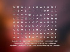 24 Sets of Free & Clean Icons For Minimal Web Design