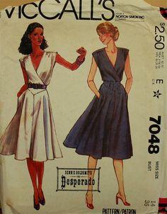1980s Summer Dress McCall's Pattern 7048 Uncut  by patterntreasury, $15.95