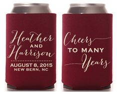 Cheers to Many Years Wedding Favors Anniversary Party Gifts Monogrammed Wedding Favors House Warming Gifts Burgundy Favors Gifts 1347 by SipHipHooray