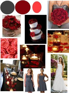 red and grey wedding | Red Pink and Charcoal : wedding black pink red silver Gray Red And ...
