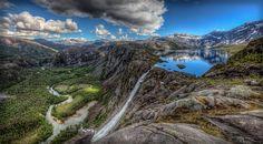 Litlverivassfossen, Rago National Park, Norway