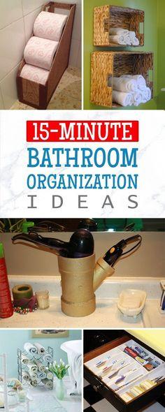 The Home Decor: 15-Minute DIY Bathroom Organization Ideas