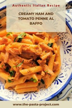 This is a perfect weeknight pasta recipe, fast and easy to make! A great recipe for leftover holiday ham to enjoy with kids, friends and family. Interested in learning more about life in Italy, Italian culture and food? Click through to my site and SUBSCRIBE TO MY NEWSLETTER! Subscribers get a series of free Italian pasta e-books to collect! #italianpasta #italianrecipe #traditionalrecipe #traditionalpasta #porkrecipe #thepastaproject Easy Meals For Kids, Easy Family Meals, Cookbook Recipes, Pork Recipes, Leftovers Recipes, Dinner Recipes, Holiday Ham, Italian Pasta Recipes, How To Cook Ham