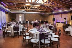 Deep eggplant and #purples for a #reception.