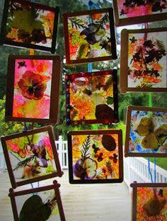 Learn To Grow: Stained Glass Craft: Dried Flowers, Leaves Crayon Shavings DIY Suncatcher craft - part of sun movement unit Art For Kids, Crafts For Kids, Arts And Crafts, Diy Crafts, Wax Paper Crafts, Art Floral, Stained Glass Crafts, Pressed Flower Art, Nature Crafts