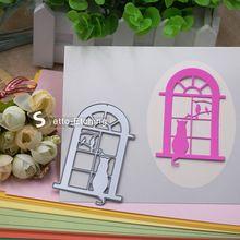 Window Door Cat Bird DIY Die Cutting Template Metal Steel Cutting Dies Stencils Scrapbooking Decorative Embossing Suit Card Gift(China (Mainland))