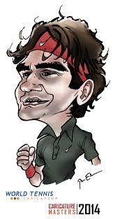 Resultado de imagem para Roger Federer Caricatura