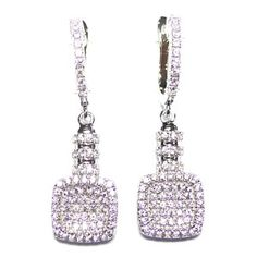 Silver with zirconia cod. SE31237A1 weight : 5.41 g. white cubic zirconia : (140 piece) rhodium plated