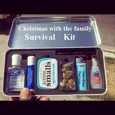 Dear Santa, i know I am an adult.  I also realize i  haven't been a very good girl, but i am a very good girl sober. So i would really like this survival kit and the best home made eggnog you can find. Thanks a mill, i will leave a zanex and a cookie with milk out Christmas eve.