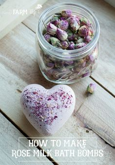 How to make all-natural Rose Milk Bath Bombs! Wouldn't these make fabulous homemade gifts for Valentine's day?