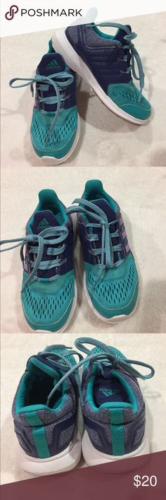 Adidas tennis shoes Adidas  purple and aqua shoes very clean and in great shape... like new adidas Shoes Sneakers