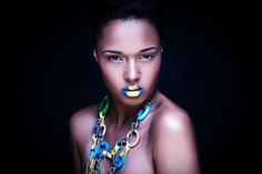 yellow fashion makeup | Make-up I created for a recent photo-shoot! I loved creating this ...
