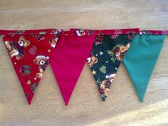 Christmas Fabric Bunting by MollyFelicityDesigns on Etsy, £12.50