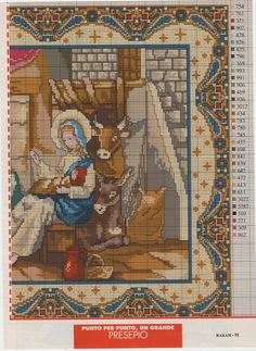Cross-stitch Nativity, part 2.. with the color chart