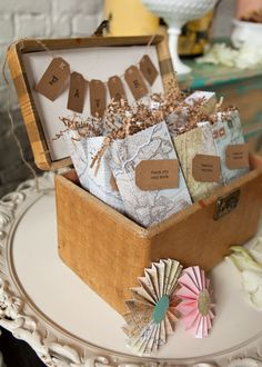 party favor idea for travel themed shower