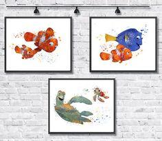 BUY 2 Get 1 FREE Nemo Watercolor Disney Pixar by gingerkidsart