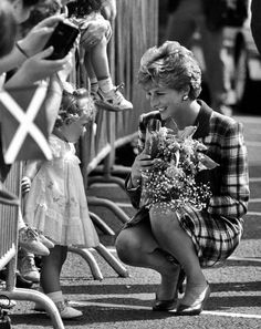 princess di . . . talks to a wee small little girl......