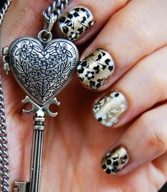 I don't know which I think is cooler...the nails or the locket...