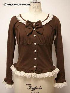 Metamorphose temps de fille / Cutsew & Knit / Lace Frill Cardigan (Torchon)