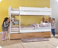Etagenbett Unten Baby : Kinderbett mia etagenbett hochbett Öko doppelstockbett bett baby