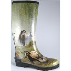 Smoky Mountain Ladies Running Horses Rubber Boots and Rain and Muck Boots | EQUESTRIAN COLLECTIONS.COM