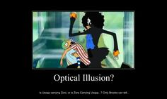 OP Moti - Optical Illusion by naruto9000believeit.deviantart.com on @deviantART. Usopp is carrying Zoro