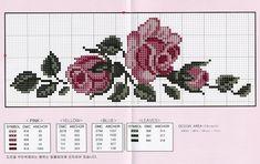 Cross Stitch Rose, Cross Stitch Flowers, Cross Stitch Charts, Cross Stitch Designs, Cross Stitch Patterns, Embroidery Stitches, Hand Embroidery, Cross Stitch Geometric, Tapestry Crochet Patterns
