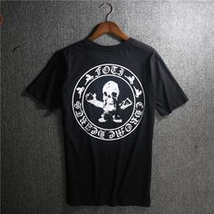 Skull CH letters Circle Printed Black Chrome Hearts T-shirt