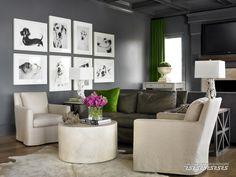 Proyectos @ Melanie Turner Interiors. idea de cuadros pintados de perros!!