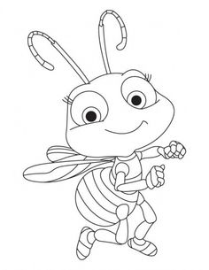 Busy Bee coloring page