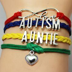 Auntie Love Autism Awareness Bracelet