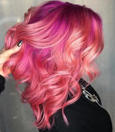 """2,056 curtidas, 20 comentários - Joico Color Intensity (@joicointensity) no Instagram: """"Yep, more pink hair! Because, why not?! Happy Valentine's Day, Lovers! Hair by…"""""""