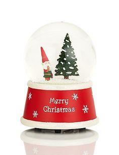 Santa's Little Elf Musical Snow Globe