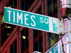 Times Square New York City street sign.