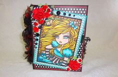 Alice in Wonderland premade mini scrapbook by CollectionOfMoments, $59.00