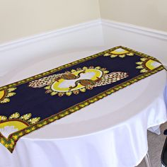 This beautifully vibrant table runners will make any space feel alive! All the colors and designs are sure to bring a little bit of Africa to any space. Excellent choice for table decor for an African theme home decor or party.With 2 differe. Main Colors, All The Colors, African Theme, African Home Decor, Printed Curtains, Navy Gold, Hostess Gifts, Event Decor, Fabric Patterns