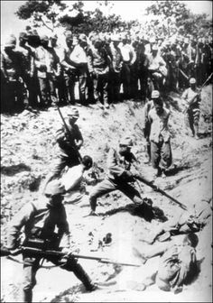 The Nanking Massacre or Nanjing Massacre , also known as the Rape of Nanking , was a mass murder , genocide and war rape that occurred d. Nanjing, Nagasaki, Hiroshima, Nanking Massacre, Iwo Jima, Prisoners Of War, Lest We Forget, Historical Images, Pearl Harbor