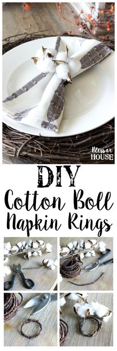 DIY Cotton Boll Napk