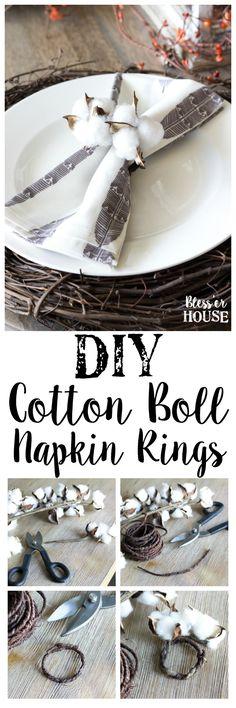 DIY Cotton Boll Napk