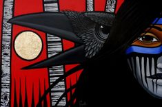 Aaron Paquette is one of Canada's premiere First Nations artists known for his bright colours and strong lines. American Indian Art, Native American Art, Raven Art, Power Animal, Crows Ravens, Canadian Art, Indigenous Art, Aboriginal Art, Native Art