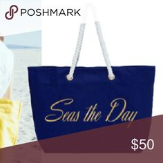 """Trina Turk Royal Blue Beach Tote New with tags! Trina Turk Royal Blue Beach Tote """"Seas the Day"""" Trina Turk Bags"""