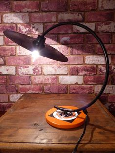 Shop for on Etsy, the place to express your creativity through the buying and selling of handmade and vintage goods. Desk Lamp, Table Lamp, Vintage Lamps, Harley Davidson, Cool Stuff, Lighting, Lp, Etsy, Home Decor