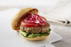 If you've ever tried making your own veggie burgersfrom scratch, you know that it's a bit of an art. These vegan burgers, a recipe specially created for us by superfood chef Julie Morris, achieve that magical longed-for combination: a well-formed patty that retains its shape when cooked, thanks to oats and coconut oil; a profound