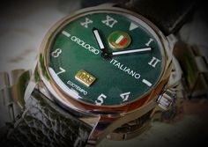 """Egotempo ...  Preludio with special dial """"orologio italiano"""", nuanced green colors, 18k gold and enamel plates applied on starry dial...  Preludio coming soon ...  www.egotempo.it https://instagram.com/egotempo/ https://twitter.com/EgotempoItalia"""