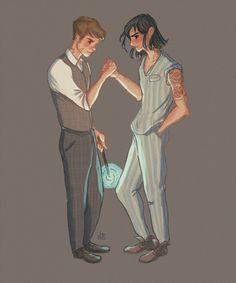 Remus and Sirius by Natello's Art