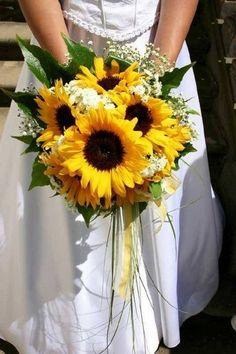 sunflower themed wedding