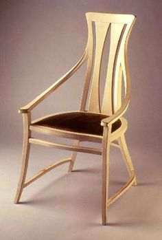 Art Nouveau Armchair for the dining room of the Peter Behrens residence, designed by Peter Behrens, ca. 1901